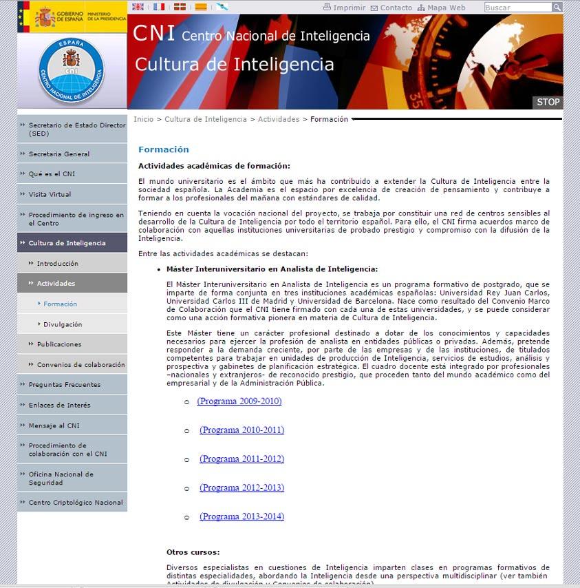 CNI publicita cursos