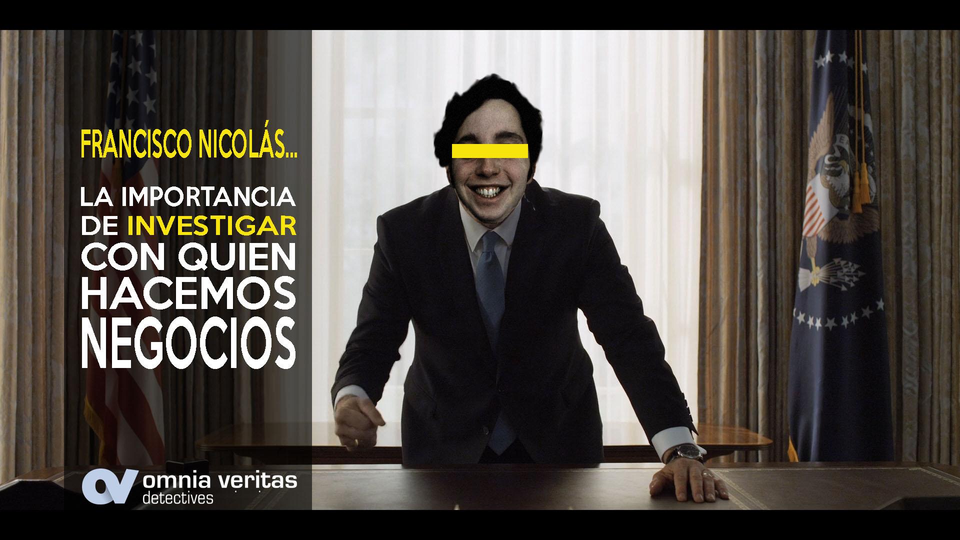 Francisco Nicolas y la investigación de estafas
