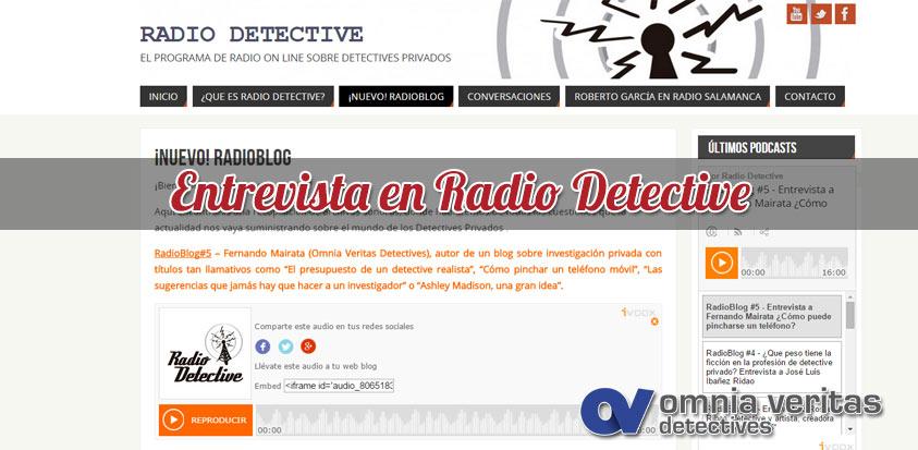 Entrevista en Radio Detective